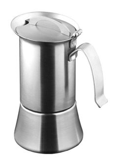 Caroni 1 or 2-Cup Induction Stainless Steel Stove Top Espresso Coffe Maker with Reduction Filter VE01021 ** You can get more details by clicking on the image. #StovetopEspressoMokaPots