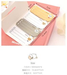Sheep  Animal Sticky Notes To Do List Postit by pikwahchan on Etsy, $2.20