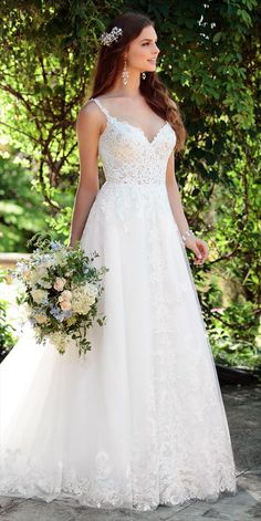 Summer Wedding Dresses Essense of Australia Spring 2017 Bridal Collection - The Spring 2017 Essense of Australia bridal collection features exquisitely romantic wedding gowns adorned with delicately feminine embellishments. Spring 2017 Wedding Dresses, Wedding Dress Trends, Dream Wedding Dresses, Bridal Dresses, Wedding Gowns, Bridesmaid Dresses, Lace Wedding, Bridal Lace, Mermaid Wedding