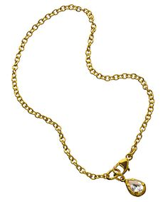Catherine Weitzman Small Teardrop Solitaire Bracelet