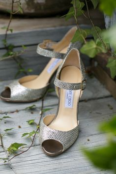Gorgeous Jimmy Choos with a peep-toe and a strap! How chic! {Candace Jeffery Photography}