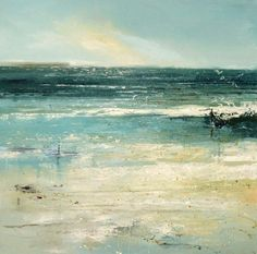 Paintings of Claire Wiltsher Claire Wiltsher is an award winning landscape painter born 1962 in Newport, Wales, UK. She has a Masters degree in Fine Art, and has exhibited in solo shows throughout Britain as well as been a finalist in many. Seascape Paintings, Landscape Paintings, Mountain Paintings, Sea Art, Coastal Art, Abstract Landscape, Fine Art, Artwork, Newport Wales