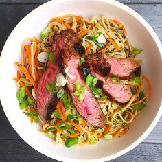 Soba Noodle Salad with Grilled Flank SteakDelish...