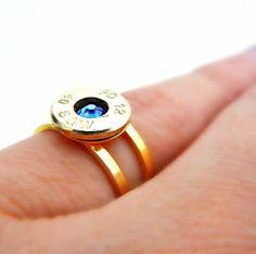 Bullet Birthstone Ring