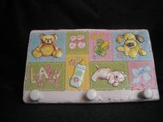 Pretty pink clothes hanger for a baby girl by HandmadeByFiona, $35.00