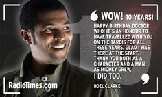 Happy Doctor Who, Noel Clarke Doctor Who 10, Second Doctor, 10th Doctor, Anniversary Message, 10 Anniversary, Noel Clarke, Captain Jack Harkness, Tv Doctors, Picture Of Doctor
