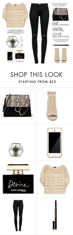 """..."" by yexyka ❤ liked on Polyvore featuring Chloé, Sam Edelman, Squair, Dolce&Gabbana, Polo Ralph Lauren, J Brand and Anastasia Beverly Hills"