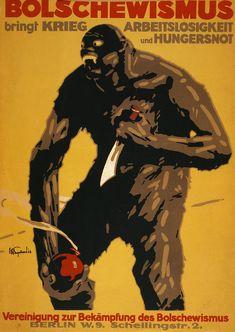 World War I, Bolshevism, German Poster