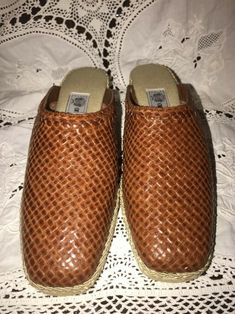 b3b99aba5eba Details about Andres Assous Slip On Mule Espadrille Woven Leather Rope Clog  Wedged New