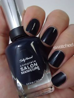 Seriously Swatched: Swatch & Review - Sally Hansen Petrol