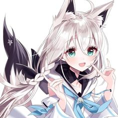Kawaii Neko Girl, Cute Neko Girl, Lolis Neko, Anime Girl Neko, Anime Girl Cute, Anime Neko, Anime Art Girl, Manga Anime, Cute Anime Character