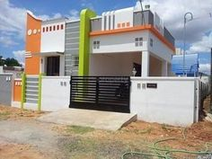 Ssgh In Chengalpattu Independent House/villa For Sale At Chengalpattu, Chennai House Front Wall Design, House Outer Design, Single Floor House Design, Modern Small House Design, House Outside Design, Village House Design, Kerala House Design, House Design Photos, Front Design