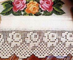кайма для полотенца с розами
