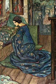 From ''The Early Poems of William Morris,'' illustrated by Florence Susan Harrison