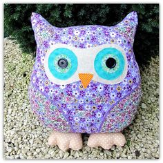 Daisy is a soft and cuddly owl cushion. She stands 35cm tall on her plump, polka dot feet. Daisy is made from a tactile, babycord fabric, with cotton print wings.I love owls, and the plump roundness of the owl is the perfect shape for a cushion. Daisy would make a cheerful addition to any room, and is sure to raise a smile!