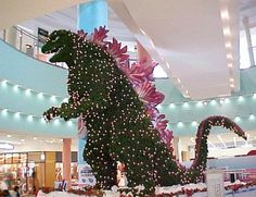 Godzilla Christmas Tree- love it!!!