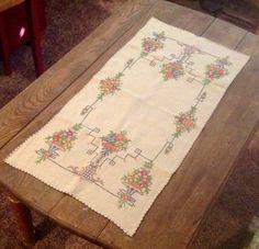 Vintage dresser scarf.......ofgfaap by hootnanniesbyjeanne on Etsy, $8.00