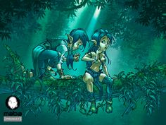 Under trees by MabaProduct on deviantART