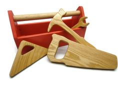 Wooden Kid Tool Box - Wood Toy Tool Box - Natural Toys For Kids, Toddlers…