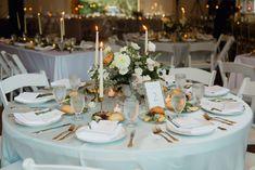 Simple wedding decor, gold silverware, wedding inspiration, reception inspiration, round table