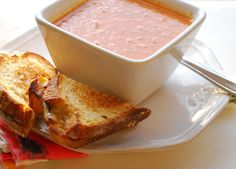 Nothing better than homemade tomato soup and grilled cheese!!