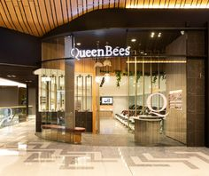Queen Bees Nail and Spa at Robina Town Centre. Bee Nails, Nail Salons, Nail Spa, Queen Bees, Centre, Store, Design, Storage, Design Comics