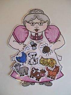 I Know An Old Lady Who Swallowed A Fly printable. Laminate and put felt on the back for felt board. Great preschool literacy activity!
