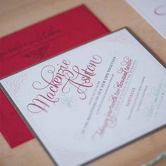 Elegant Wedding Invitation  script invitation by JenSimpsonDesign, $4.50