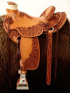 Flowers, elegant, teardrops, henna, lots of words to describe this saddle