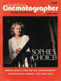 Meryl Streep - American Cinematographer Magazine [United States] (April 1983)