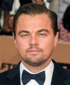 Leonardo DiCaprio's Short Glossy Hairstyle from the 2016 Academy Awards.  Try on this hairstyle and view styling steps! http://www.thehairstyler.com/mens-hairstyles/formal/short/straight/leonardo-dicaprio-hairstyle-oscars-academy-awards