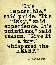 It's impossible, said pride