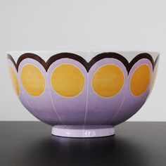 Jill Rosenwald large bowl in Yellow Passion