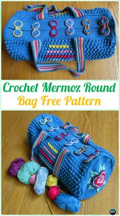 CrochetMermoz Round BagFree Pattern - #Crochet Handbag Free Patterns