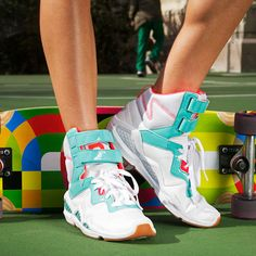 '80s retro sneakers, best for a low-impact workout such as walking or hiking.