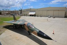 A retired Royal Australian Air Force F-111 reassembled at the Pacific Aviation Museum following its shipment from Australia. Sept 2013