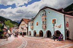 Beautiful village of Ortisei, Dolomites, Italy