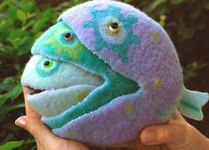 felted food chain fish