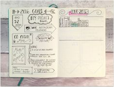 Starting a Bullet Journal // Goals & TBR