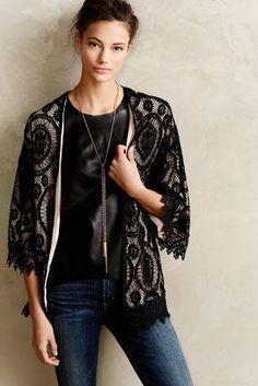 Sunday in Brooklyn Laced Kimono Cardigan #anthrofave