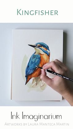 Watercolor Paintings For Beginners, Watercolor Art Lessons, Birds Painting Watercolor, Painting & Drawing, Love Birds Painting, Watercolor Paintings Of Animals, Bird Paintings, Watercolor Artists, Watercolour