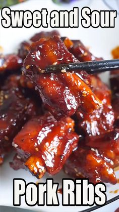 Chinese Pork Rib Recipe, Chinese Sweet And Sour Pork Recipe, Sweet And Sour Spare Ribs Recipe, Homemade Chinese Food, Easy Chinese Recipes, Asian Recipes, Sweet And Sour Spareribs, Sweet And Sour Pork Chops, Pork Rib Recipes