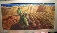 Olio su tela Mattoni sul Nilo. Opera di Filippo Raiti