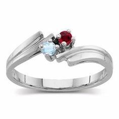 I think I'd like a birthstone ring for an engagement ring more than a diamond. This is so pretty!