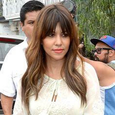 Kourtney Kardashian bangs {wispy bangs}..... Debating on going back to bangs....