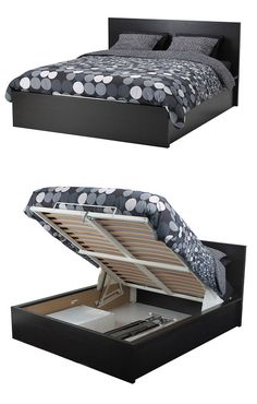 IKEA Fan Favorite: MALM storage bed. In a small bedroom, sometimes you have to think outside of the closet. If a wardrobe simply won't fit, you can get around the problem with a bed that can store a wardrobe's worth of clothes.