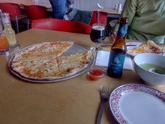 Pizza with spicy jam at Seidisfjördur