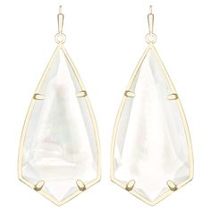 Introducing a new stone shape in the ever popular ivory mother of pearl. This silhouette features angular edges and light catching facets for maximum brilliance. The uniquely shaped mother of pearl is