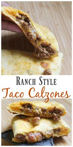 Ranch Style Taco Calzones