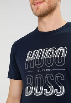 Words Wallpaper, Graphic Tees, Graphic Design, Men's Collection, Shirt Ideas, Hugo Boss, Stamps, Typography, Mens Tops